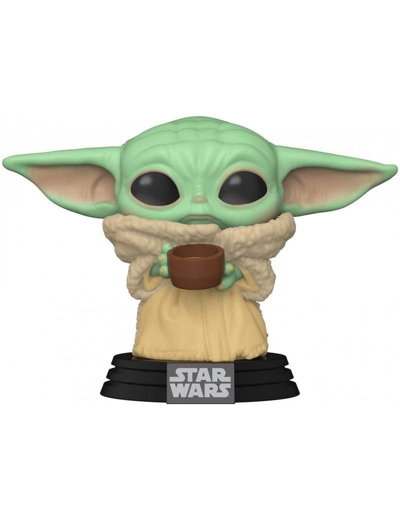 Bébé Yoda avec tasse - STAR WARS - Funko pop N° 378 - MANDALORIAN - THE CHILD