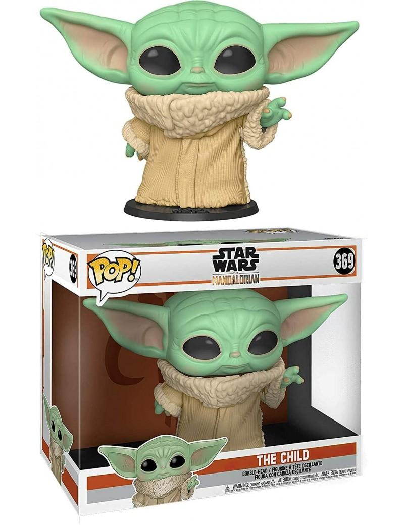 "Star Wars - MANDALORIAN - Funko POP! N° 369 - The Child 10"" Super Sized - Bébé yoda géante"