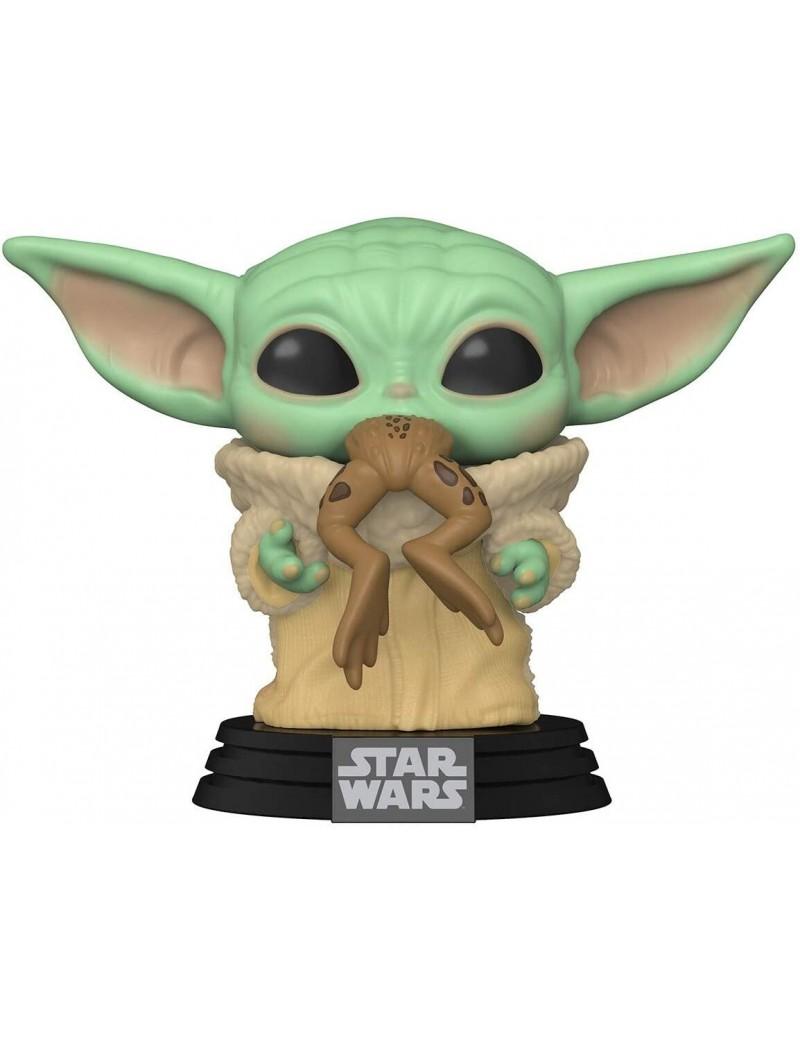 Bébé Yoda - STAR WARS - Funko pop N° 379 - MANDALORIAN - THE CHILD with Frog