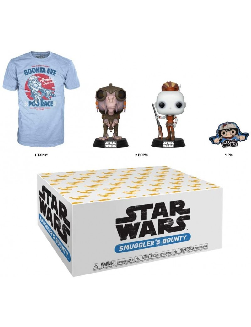 STAR WARS - Funko Star Wars Smuggler's Bounty Subscription Box, Podracing Theme, August 2019,  T-Shirt taille L